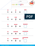 001 Sumas de 1 digito para primer grado fácil.pdf
