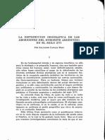 Distribucion geografica de etnias argentinas en el noa