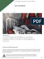 O 'cotidiano epidêmico'_ a gripe espanhola e o novo coronavírus - _Leandro Carvalho Damacena Neto
