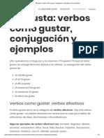 Me gusta_ verbos como gustar, conjugación y ejemplos _ Hoy Hablamos
