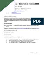 COMM 2322 PR Applications Syllabus Spring 2011