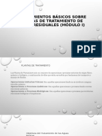 2.- Módulo 3 y 4 Conocimientos básicos sobre Plantas de Tratamiento de Aguas