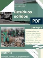 Trabalho gestão ambiental - RSU