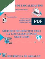 METODO DE LOCALIZACION - HEURÍSTICA DE ARDALAN