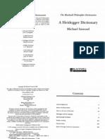 A Heidegger Dictionary - Inwood
