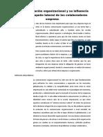 La comunicación organizacional y su influencia en el desempeño laboral de los colaboradores empresa
