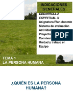 LA PERSONA HUMANA - CLASE 1