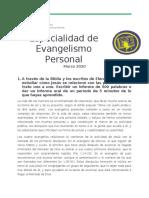 Especialidad de Evangelismo personal