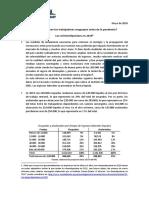 Informe sobre salarios 2019 en Uruguay