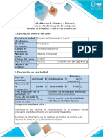 Guía de actividades y rúbrica de evaluación Tarea 3. Reconocer la importancia de la promoción del uso racional de medicamentos (1)