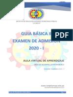 GUIA BASICA Nro 02 - PARA EL EXAMEN DE ADMISION 2020 - Plataforma Virtual