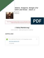 """Notizen aus """"Sklavin, Kriegerin, Königin (Für Ruhm und Krone – Buch 1)"""""""