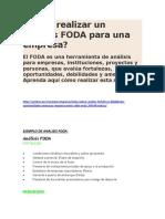 Cómo realizar un análisis FODA para una empresa