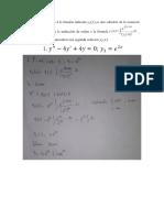 trabajo de ecuaciones