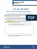 Play #1 - Post Game Interview