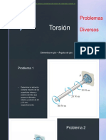 Torsión - Problemas Propuestos