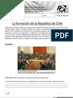 - La formación de la República de Chile