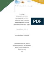 Tarea 3 – Los enfoques disciplinares en psicología..