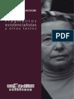 Beauvoir, S. (2019). Fragmentos existencialistas y otros textos.pdf