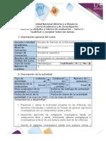 5. Guía de actividades y Rúbrica de evaluación. Tarea 5 – Cualificar y compilar todos las tareas