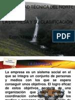 1. DEFINICION DE EMPRESA Y SU CLASIFICACION