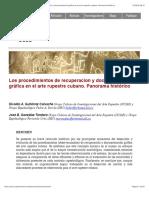 Arte rupestre Cuba Los procedimientos de recuperacion y documentación gráfica en el arte rupestre cubano. Panorama histórico.pdf