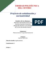 Señalizacion y Normatividad Mecatronica 1 Cuatrimestre 2