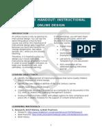 Inservice Handout Design