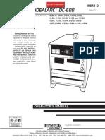 Manual de Partes, Servicio, Operación y Diagramas (Ingles)_DC-600