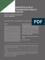 EFICIENCIA ENERGÉTICA EN EL TRANSPORTE PUBLICO DE BOGOTA