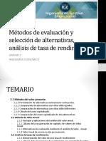 Métodos de Evaluación PARTE 1