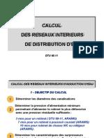 CALCUL DES RESEAUX INTERIEURS