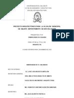 Proyecto arquitectónico para la Alcaldía Municipal de Nejapa departamento de San Salvador
