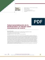 Diaz, C. (2018). Gubernamentalización de la biodiversidad, un estudio sobre los mecanismos de control