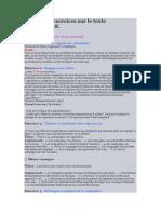 Exemple d'exercices sur le texte argumentatif