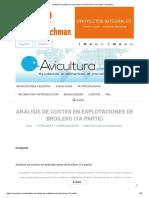 Análisis de costes en explotaciones de broilers (1a parte) - Avicultura