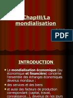 Chap3 La Mondialisation