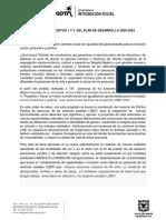 ANÁLISIS PROPÓSITOS 1 Y 3 DEL PLAN DE DESARROLLO 2020-2024
