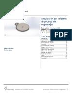 informe de prueba de engranajes-Análisis estático CORRECION