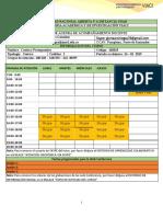 Agenda de acompañamiento docente Gloria Arciniegas período 16-01