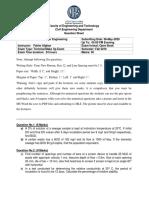 Wastewater Engineering Terminal Exam Open Book