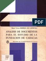 Análisis de Documentos para el estudio de la fundación de Caracas