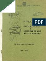 1996 - Mallma, Arturo - Introduccion a la arqueologia