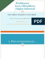 ARGUMENTIC.    PROBLEMAS TEORICOS Y FILOSOFICOS DE LA LOGICA INFORMAL. Eduardo Harada Olivares