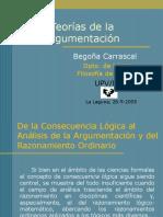 ARGUMENTIC.    TEORIAS DE LA ARGUMENTACION.  Begoña Carrascal