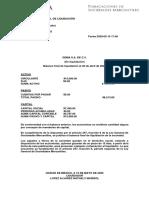 BALANCE FINAL DE LIQUIDACION PUBLICADO EN EL RCP
