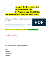 The Psychologist as Detective an Introduction to Conducting Research in Psychology 6th Edition by Randolph a. Smith – Test Bank