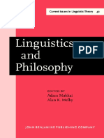 [Current Issues in Linguistic Theory