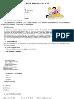 UNIDAD DE APRENDIZAJE  Nº 02 - 4to grado - copia