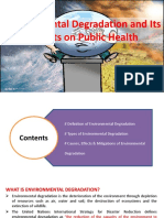 Environmental Degradation and Its Impacts on Public Health
